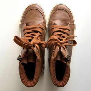 Cat & Jack Boys Shoes Faux Leather High Tops